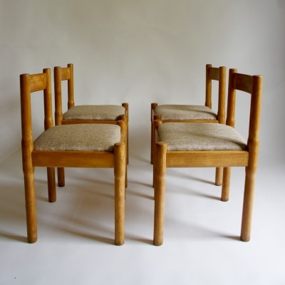 Set of 4 Carimate dinner chairs by Vico Magistretti for Habitat, 1960s