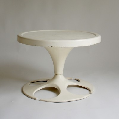 Space Age fibreglass circular side table, 1970s