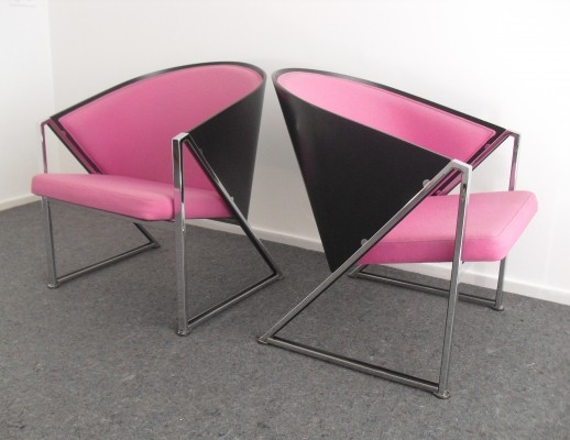 Pair of Mondi arm chairs by Jouko Jarvisalo for Inno Finland, 1980s
