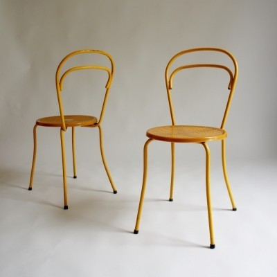 Set of 6 Mid Century Grosfillex Chairs, 1950s