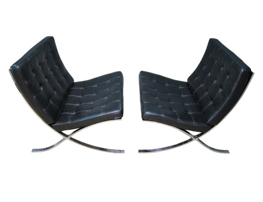Vintage Knoll International Barcelona chairs by Ludwig Mies van der Rohe, 1990s