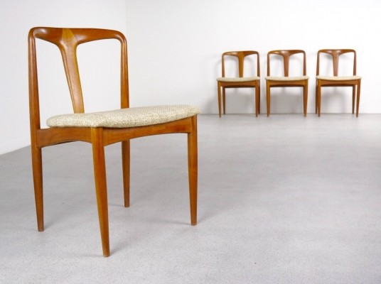 Set of 4 Juliane dining chairs by Johannes Andersen for Uldum Møbelfabrik, 1950s