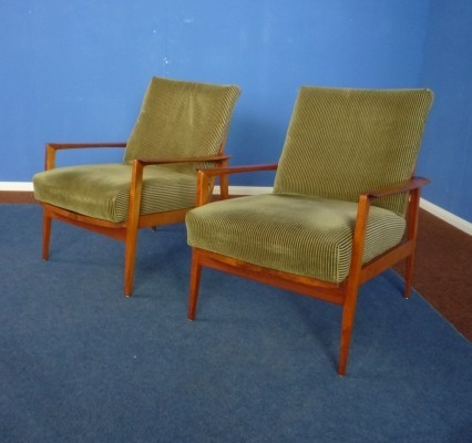 Two Teak Antimott Armchairs by Wilhelm Knoll, 1950s