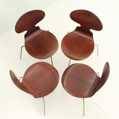 Set of Four Early Ant Chairs by Arne Jacobsen, 1950s