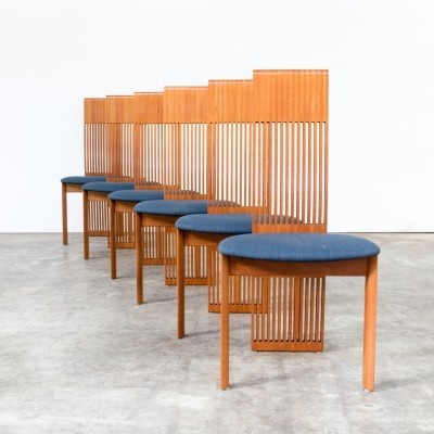 Set of 6 Pietro Costantini dinner chairs, 1980s