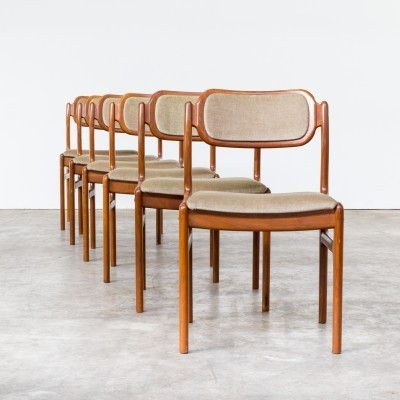 Set of 6 dining chairs by Johannes Andersen for Uldum Møbelfabrik, 1960s