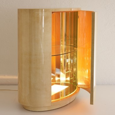 Lighted bar cabinet by Aldo Tura, 1960s