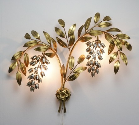 Early Pioggia d'Ore wall lamp by Hans Kögl, 1960s