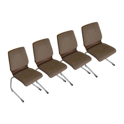 Set of 4 Wiesner-Hager chairs made in Austria in the 1970s