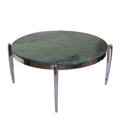 Spectacular coffee table made of marble & stainless steel