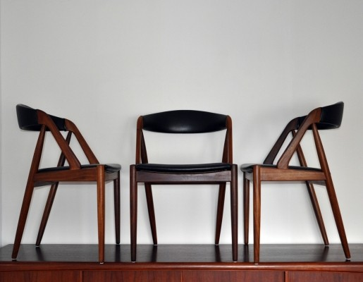 Set of 3 Model 31 dinner chairs by Kai Kristiansen for Schou Andersen SVA Møbler, 1960s