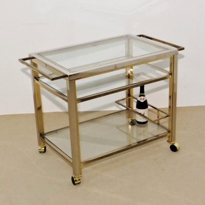 Bar trolley serving trolley by Belgo Chrom, 1970s