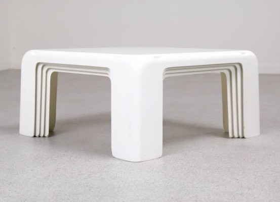 Set of 4 nesting tables by Mario Bellini for B & B Italia, 1960s