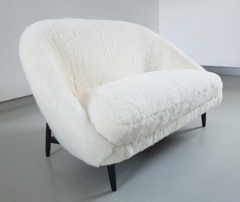 Sofa Model 115 in Sheepskin by Theo Ruth for Artifort, Holland