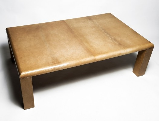 Aldo Tura 'mod. 2576' coffee table in Goatskin, 1960s