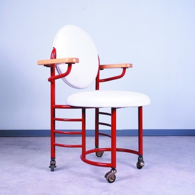 Johnson Wax office chair by Frank Lloyd Wright for Cassina, 1990s