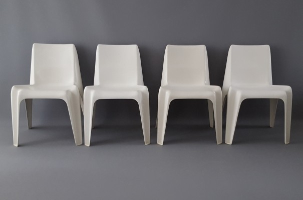 Set of 4 BA1171 Bofinger chairs for Helmut Bätzner