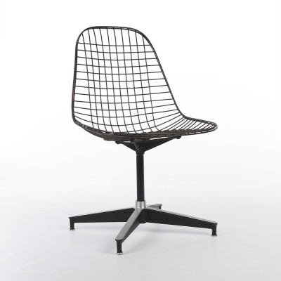 Original Herman Miller Eames Black PKC Swivel Contract Chair