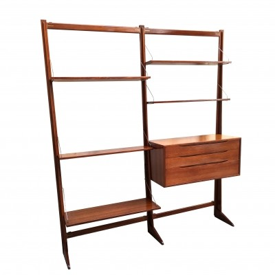Vintage wall unit in teak, 1960s