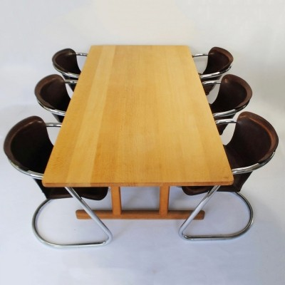 Model 6286 dining table by Børge Mogensen for Fredericia Stolefabrik, 1960s