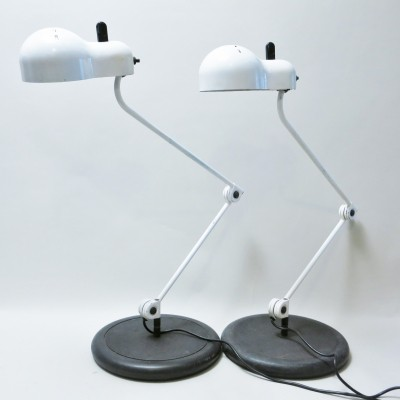 Pair of Topo desk lamps by Joe Colombo for Stilnovo, 1960s