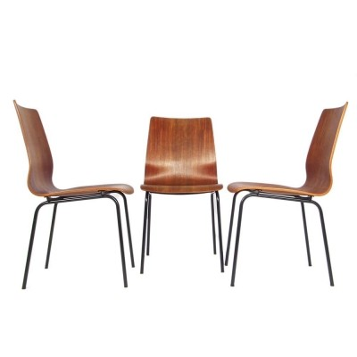 3 x Euroika dining chair by Friso Kramer for Auping, 1960s