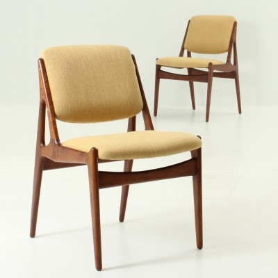 Pair of Ella dining chairs by Arne Vodder for Vamo Furniture, 1960s