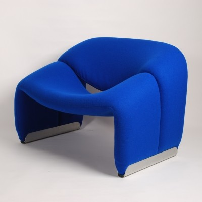 Artifort Blue Groovy Chair F598 (M Chair) by Pierre Paulin