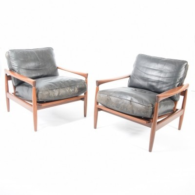 Pair of Kolding lounge chairs by Erik Wørts for Ikea, 1960s