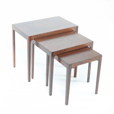 Set of 3 BR Gelsted nesting tables, 1950s