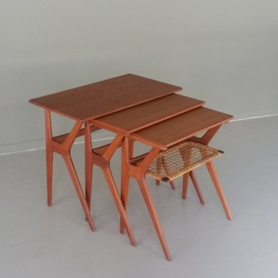 Nesting table by Johannes Andersen for CFC Silkeborg, 1960s