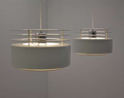 Pair of Hydra 2 hanging lamps by Jo Hammerborg for Fog & Mørup, 1960s