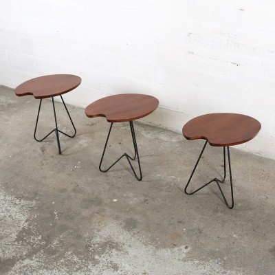 Set of 3 vintage side tables, 1960s