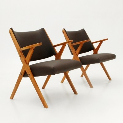 Pair of Dal Vera arm chairs, 1960s