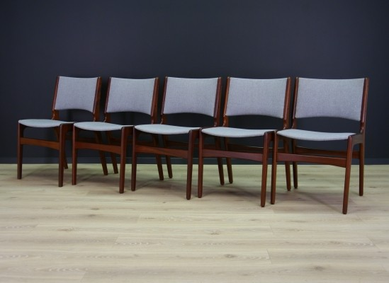 Set of 5 Johannes Andersen arm chairs, 1960s