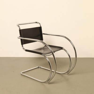 Cantilever MR20 arm chair by Ludwig Mies van der Rohe for Fasem, 1980s