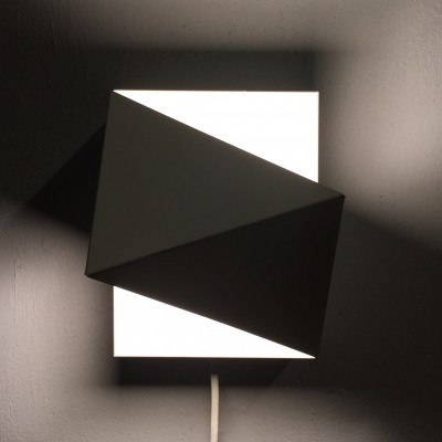 Cubist minimalistic design metal sconce by Dijkstra Lampen