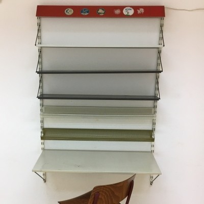 Industrial design Pilastro metal wall unit, 1950s