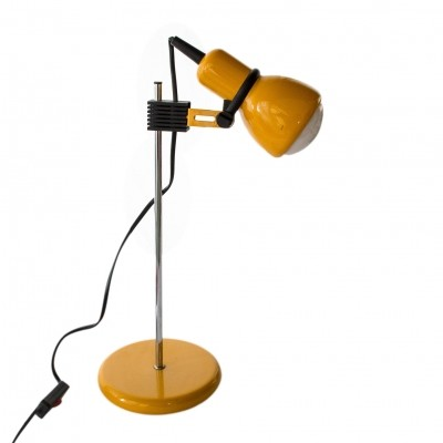 Atomic Age yellow table lamp made in Germany