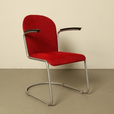 2 x Model 413 arm chair by W. Gispen for Gispen, 1930s