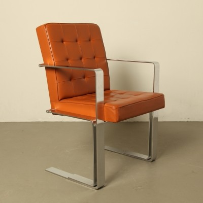 Leather & steel chair by Froscher, 1995