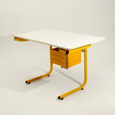 Pupil writing desk by Anna Anselmi for Bieffeplast, 1970s