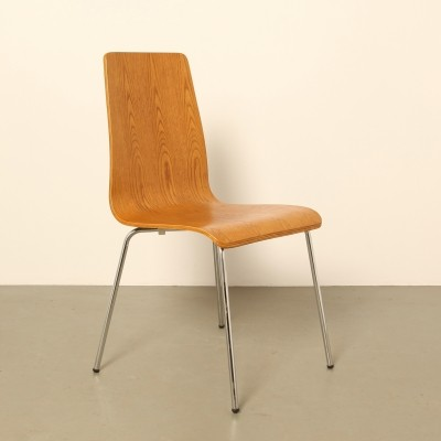 4 x Bent plywood chair by Philippe Starck