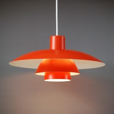 Orange PH 4/3 hanging lamp by Poul Henningsen for Louis Poulsen