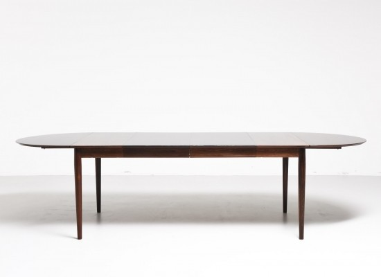 Rosewood dining table by Arne Vodder for Sibast, 1950s