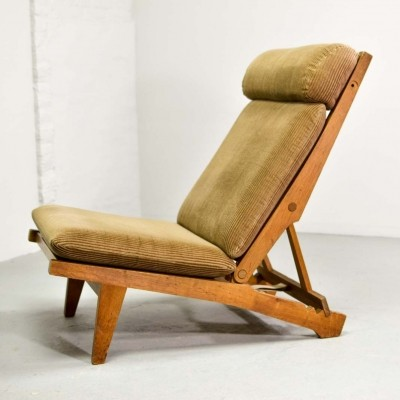 Hans J. Wegner Oakwood Folding Lounge Chair AP71 by AP Stolen, 1968