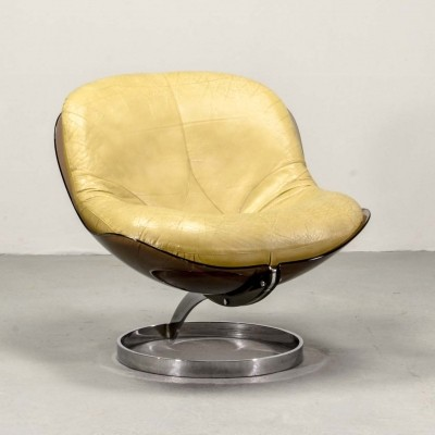 Rare Boris Tabacoff 'Sphere' Lounge Chair by Mobilier Modulaire Moderne, 1971
