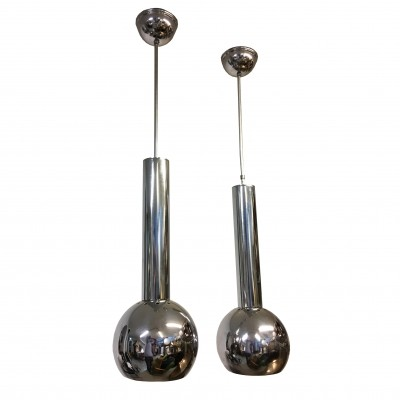 Pair of Space Age chandeliers by Reggiani, 1970s