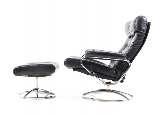 Stressless Lounge Chair & Ottoman by Ekornes, 1960s