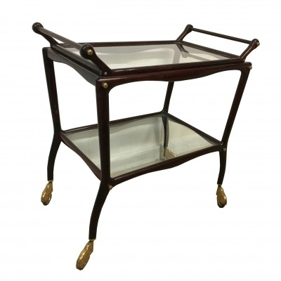 Trolley bar with removable top tray, 1950s